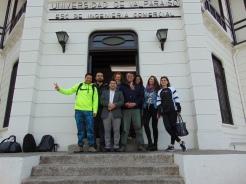 Gonzalo Huanca, con alumnos del MBA de la Universidad de Valparaíso.